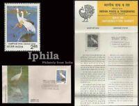 Siberian Crane Russia visitor India FDC Fldr Migratory Bird Birds Vogel oiseaux