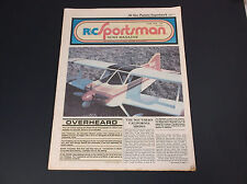 VERY COLLECTIBLE JUNE 1978 R/C SPORTSMAN NEWS MAGAZINE W/PLANE PLANS  *G-COND*