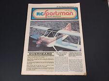 Very Collectible June 1978 R/C Sportsman News Magazine W/Plane Plans *G-Cond*