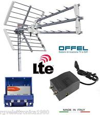 KIT ANTENNA DIGITALE TERRESTRE UHF DVBT FILTRO LTE AMPLIFICATORE ALIMENTATORE