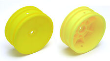 RC10B4.2 Team Associated 9691 Buggy Front Hex Wheels yellow