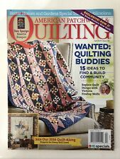 AMERICAN PATCHWORK QUILTING, original PATTERN still attached, April 2016