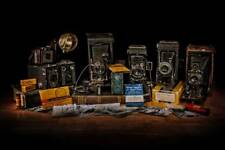Kodak Bellows Camera collection film antique 20x30 canvas fine art photograph