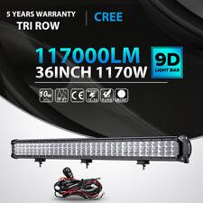 """Tri Row 1170W 36inch LED Light Bar FLOOD SPOT Offroad 4WD Jeep Truck Boat 35""""30"""""""