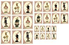 Stanzteile-Kartenaufleger-Scrapbooking-Basteln-Vintage-Ostern-Hase-Rabbit-40055