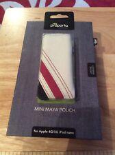 Proporta Apple 4G/5G iPod nano Leather Pouch White Red & Blue