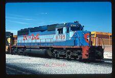 Original Slide NdeM Nacionales de Mexico SD40-2 8789 In 1987 At Torreon COAH