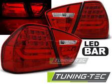 BMW 3er E90 Limousine Lightbar LED Rückleuchten Rot klar + LED Blinker