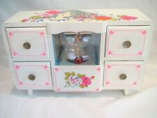 """Vintage 1970's Wind Up Jewelry Box Ballerina Magnetic Mirrors Musical """"Feelings"""""""