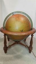 Vintage Eames Era REPLOGLE COMPREHENSIVE LIGHT UP WORLD GLOBE Table Lamp w/ Base