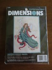 """Dimensions DAYDREAMING ANGEL Counted Cross Stitch SEALED Kit #6704 - 5"""" x 7"""""""