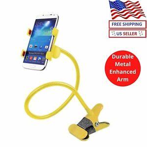 New Cell Phone Clip Holder Goose Neck Universal Lazy Bracket Flexible Long Arm