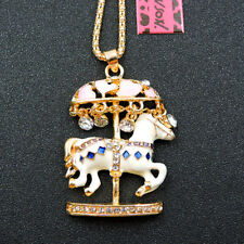 Women Sweater Chain Necklace Gift New Betsey Johnson Fashion Cute Carousel