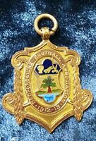 1912 England Bedfordshire Football Association Solid Gold Champion medal badge