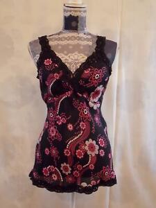 Redherring Debenhams Top size 8  Embellished Blouse  Strappy V Neck Black,Mix