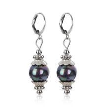 1pair Hoop Charm Elegant Sea Shell Jewelry Pearl Earrings Dangle Ear Stud