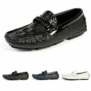 45/46/47 Mens Slip On Casual Driving Moccasin Outdoor Loafers Penny Boat Shoes