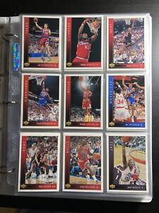 1993/94 Upper Deck NBA Basketball Series 1 COMPLETE Common card Set #8 JORDAN !
