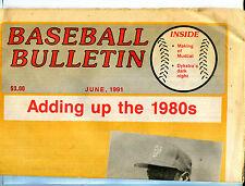 Baseball Bulletin Newspaper June 1991 Doc Gooden EX 081116jhe