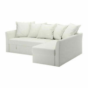 NEW  Ikea  Holmsund Sofa Cover corner sofa-bed in Ransta White 403.017.32