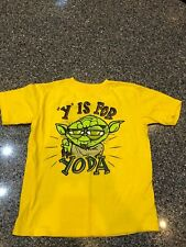Star Wars Boys Y is for Yoda Short-Sleeve T-Shirt Size 7 Disney, Awesome