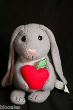 "Apple Park 12"" Gray Bunny Rabbit w/ Apple Organic Plush Toy Doll 2009 RARE!"