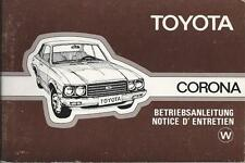 TOYOTA CORONA t100 manuale di istruzioni 1977 manuale Notice d'entretien BA
