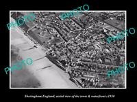 OLD 8x6 HISTORIC PHOTO OF SHERINGHAM ENGLAND THE TOWN & WATERFRONT c1930 1