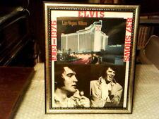 ELVIS NOW LAS VEGAS INTERNATIONAL 1969 - 1976 ORIGINAL CUSTOM FRAMED DISPLAY