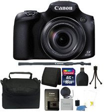 Canon PowerShot SX60 HS 16.1MP 65X Zoom WIFI / NFC Digital Camera Black Bundle