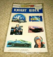 VINTAGE Knight Rider stickers UNUSED Retro 80's TV Show ICONIC, SEALED, TOY (A)