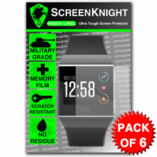 ScreenKnight FITBIT IONIC SCREEN PROTECTOR Military Shield - PACK OF 6