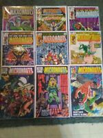 Marvel Comics Micronauts Lot Of 9 Bronze Age FN To VF