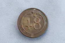 19th C French Army Uniform Button 48th Regiment Napoleon Waterloo
