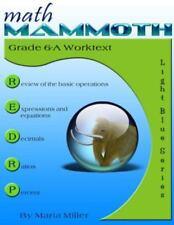 Math Mammoth Grade 6-A Worktext by Maria Miller (2014, Paperback)