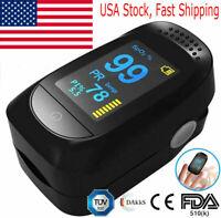 CE Finger Pulse Oximeter Blood Oxygen SpO2 Monitor PR PI Respiratory Rate FDA CE