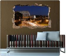 3D Wanddurchbruch ITALIEN Mauerdurchbruch Bild Wandriss Wandbild Bild Kleber