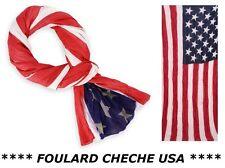 FOULARD ETATS UNIS USA XXL (175 X 85cm) CHECHE ECHARPE Homme Femme Fille Drapeau