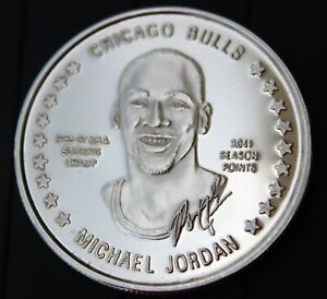 Michael Jordan Silver One Troy Ounce .999 Fine Silver Medallion Limited Edition
