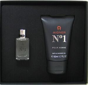 Aigner No 1 pour uomo Miniatur Set 8 ml EDT + 50 ml Bath & Shower Gel