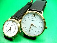 SWISS MOVEMENT AERONAUTICA COUPLE WATCH HIS & HERS MW110 & MW111 G/P CASE ANALOG
