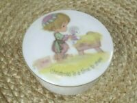 Precious moments Christmas is a time to share trinket box 1978