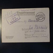 LETTRE PRISONNIER DE GUERRE STALAG II D 13.06.42 KRIEGSGEFANGENENPOST POW