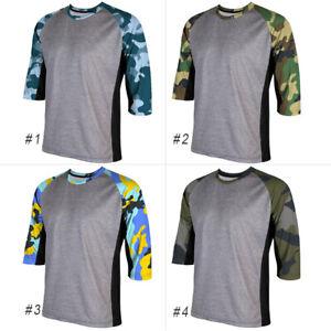 3/4 Sleeve Motocross Cycling Jersey Jacket MTB Bike Mountian Shirt Ride Clothing