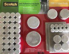 Scotch 288Pcs Furniture Table Chair Leg Felt Floor Protector Self Adhesive Super