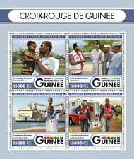 Guinea 2016 MNH Red Cross 4v M/S Ambulance Health Medical Stamps