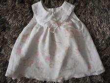 Koala Baby 3~6 Mos. 13~17 Lbs Sleeveless White & Pink Dress