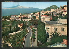 Posted 1962 View of St. Dominic Hotel & Etna, Taormina, Italy