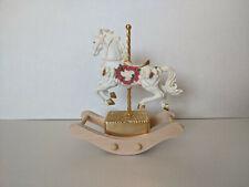 Vintage 1993 San Francisco Music Box Company Porcelain Rocking Carousel Horse