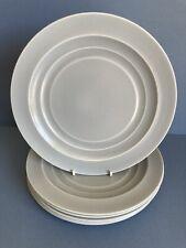 More details for branksome china graceline set of 6 grey salad plates